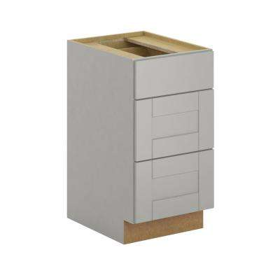 Princeton Shaker Assembled 18x34.5x24 in. Base Cabinet with soft close in Warm Gray