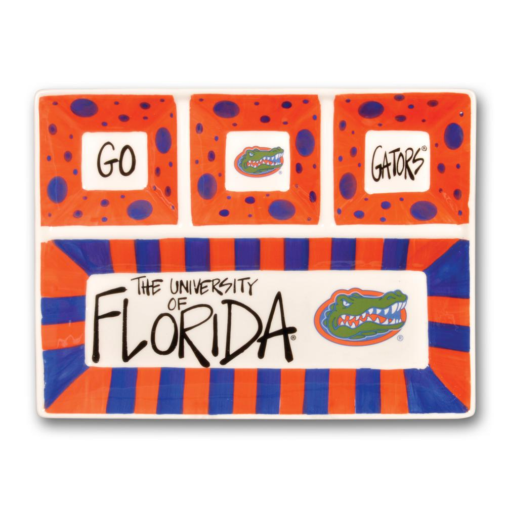 Florida Ceramic 4 Section Tailgating Serving Platter