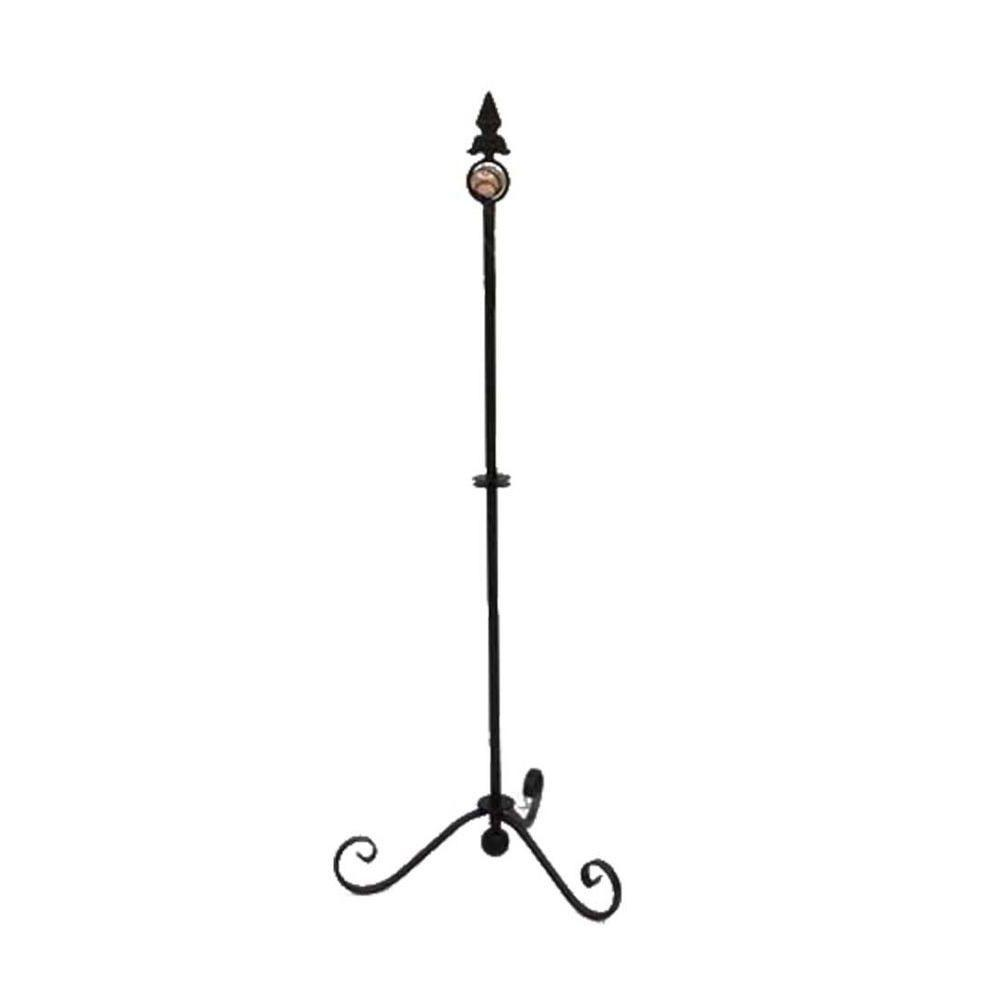 35.75 in. Iron Pot Stacking Stand with Glass Accent