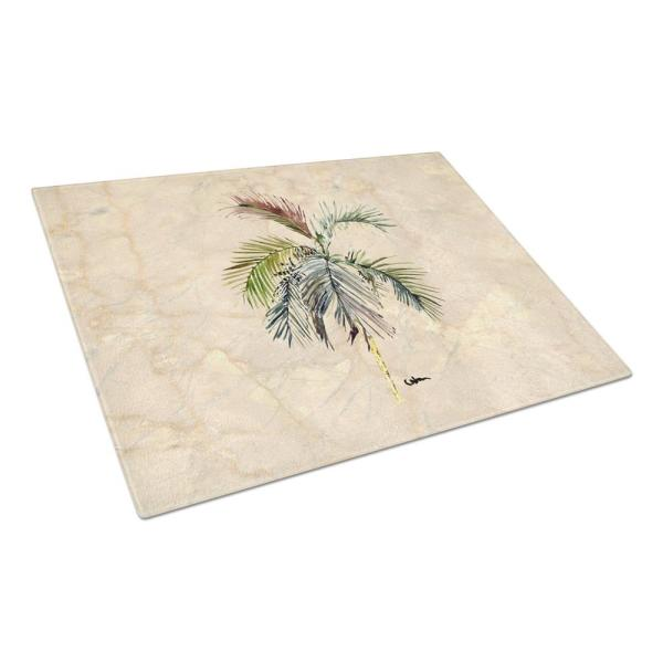 Caroline's Treasures Palm Tree Tempered Glass Large Cutting Board