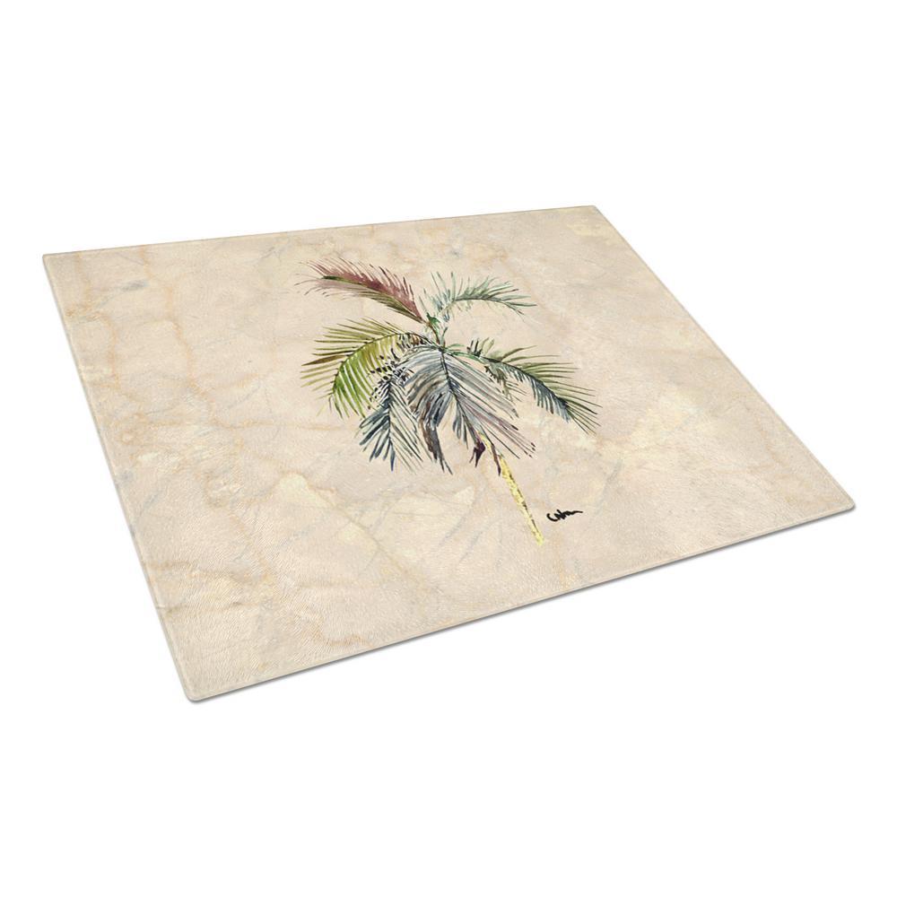 Caroline's Treasures Palm Tree Tempered Glass Large Cutting Board 8483LCB