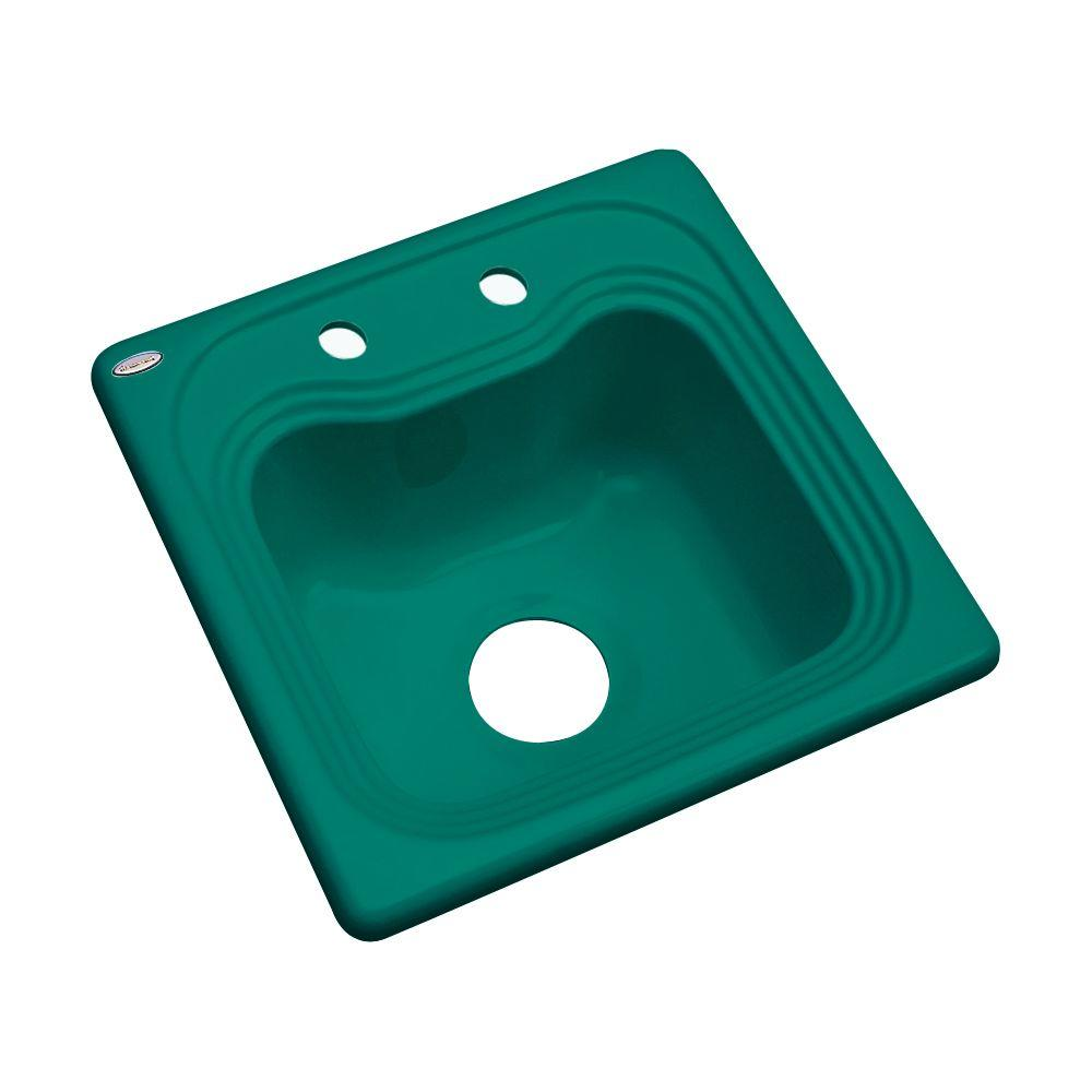 Thermocast Oxford Drop-In Acrylic 16 in. 2-Hole Single Bowl Bar Sink ...