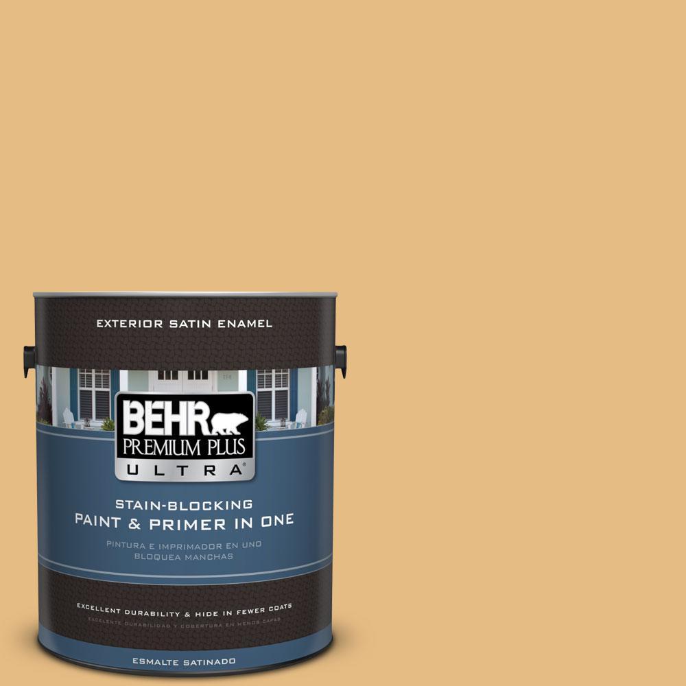 BEHR Premium Plus Ultra 1-gal. #320D-4 Arizona Tan Satin Enamel Exterior Paint