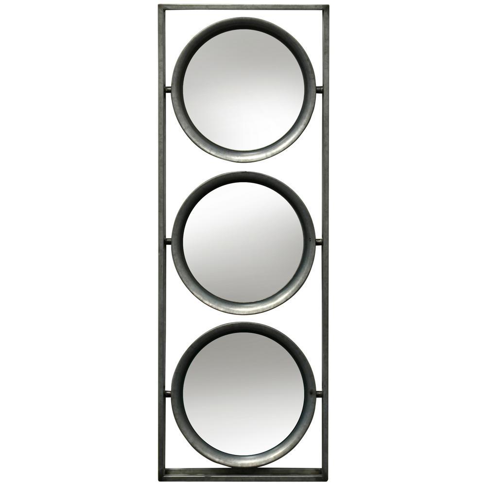 StyleCraft Transitional Galvanized, Mirror Metal, Mirror Wall Mirror was $96.99 now $44.72 (54.0% off)