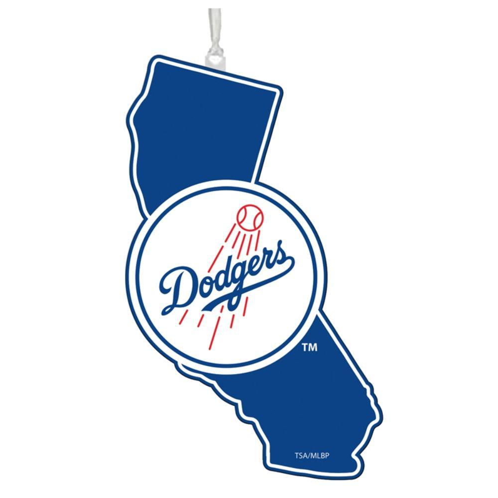 Team Sports America Los Angeles Dodgers 5 in. MLB Team State Christmas Ornament