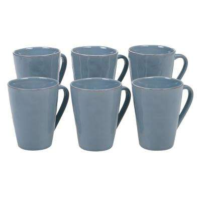 Harmony 6-Piece Teal 15 oz. Mug Set