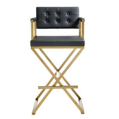 30 in. Direct or Black Gold Steel Barstool