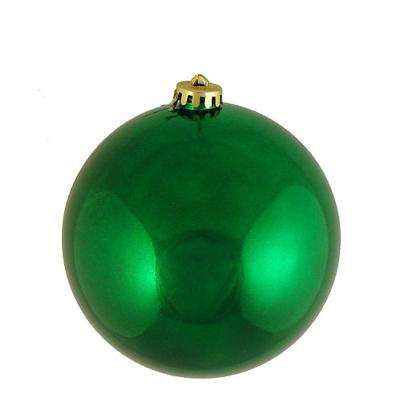 Shiny Xmas Green UV Resistant Commercial Shatterproof Christmas Ball Ornament