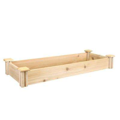16 in. x 48 in. x 5.5 in. Premium Cedar Raised Garden Bed