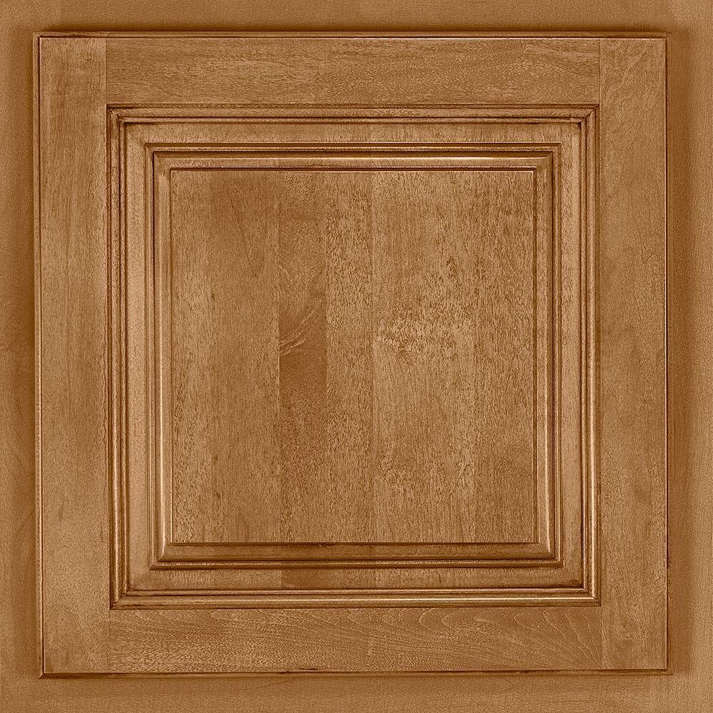 American Woodmark 13x12 7/8 In. Cabinet Door Sample In Newport Maple Mocha  Glaze 99890   The Home Depot