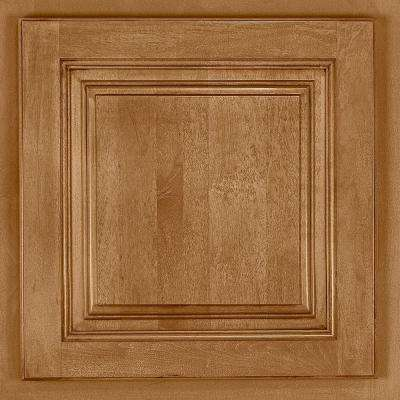 13x12-7/8 in. Cabinet Door Sample in Newport Maple Mocha Glaze