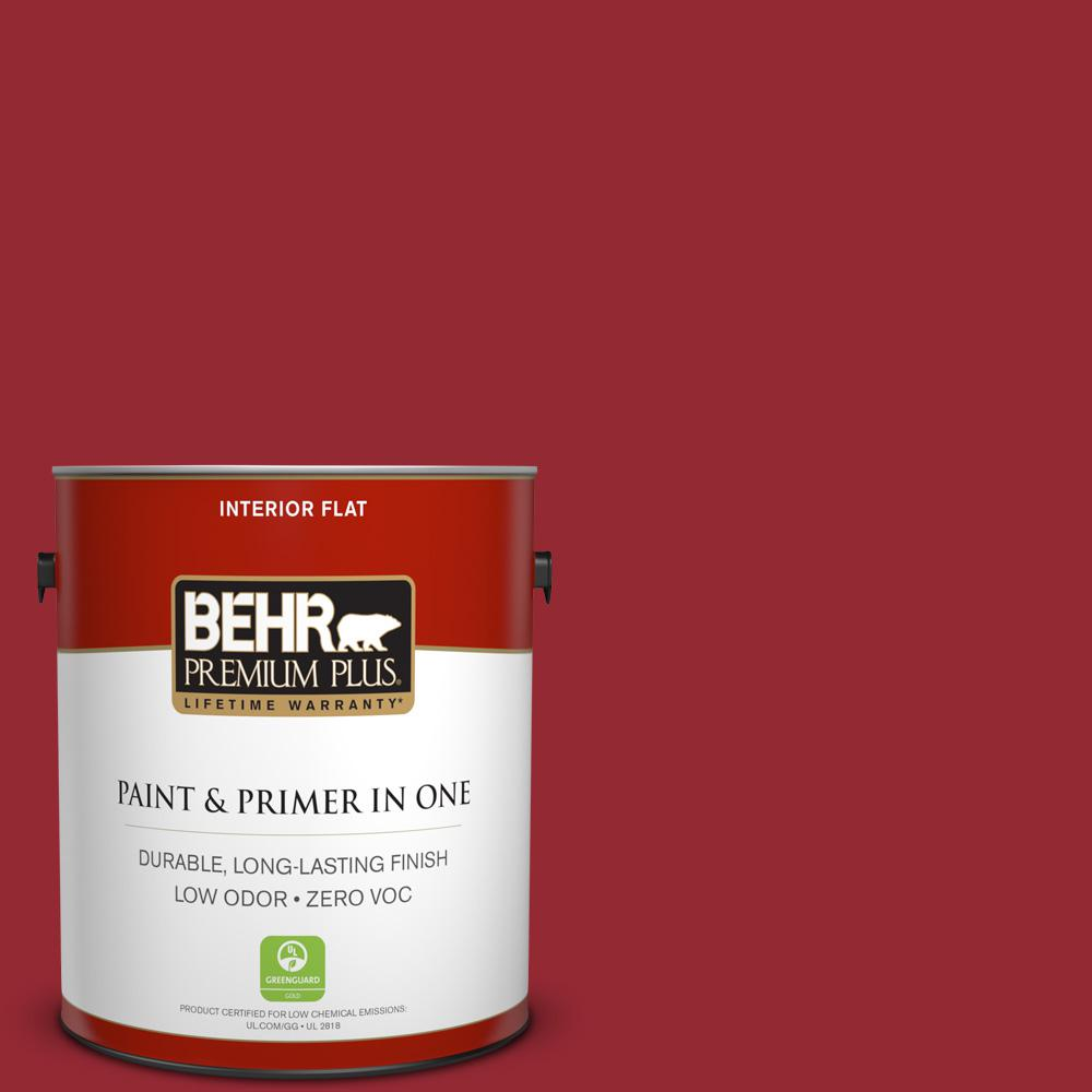 BEHR Premium Plus 1-gal. #ECC-32-3 Cherry Tree Zero VOC Flat Interior Paint