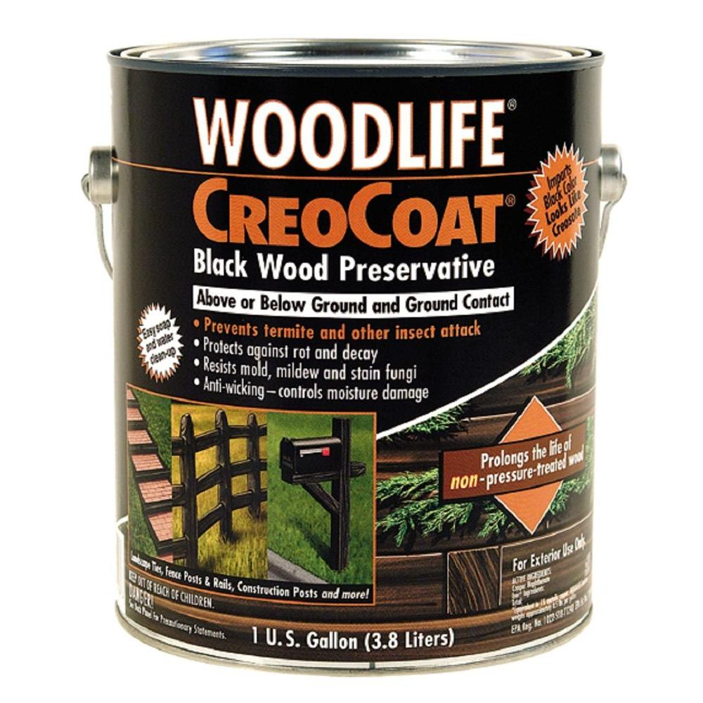 Wolman Woodlife 1 Gal Creocoat Black Water Based Exterior Wood Preservative 4 Pack 14436a