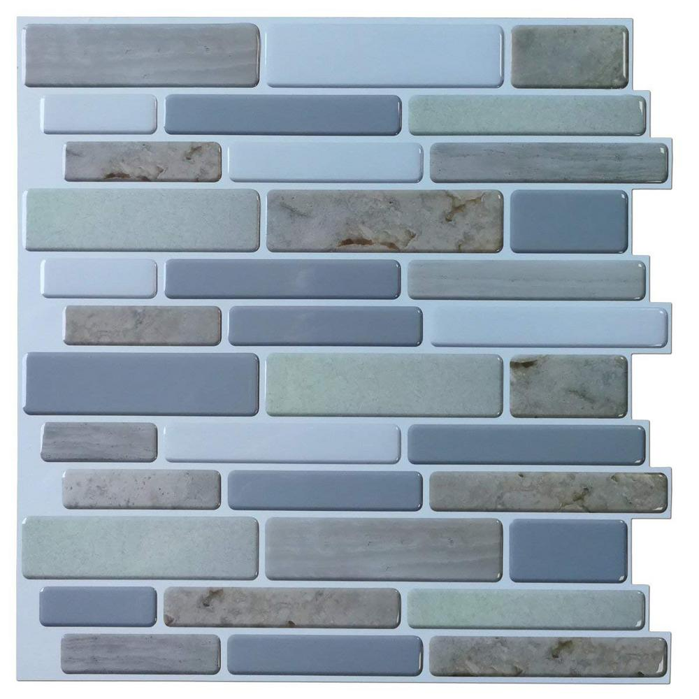 - Art3d 12 In. X 12 In. X 0.06 In. Peel And Stick Vinyl Backsplash
