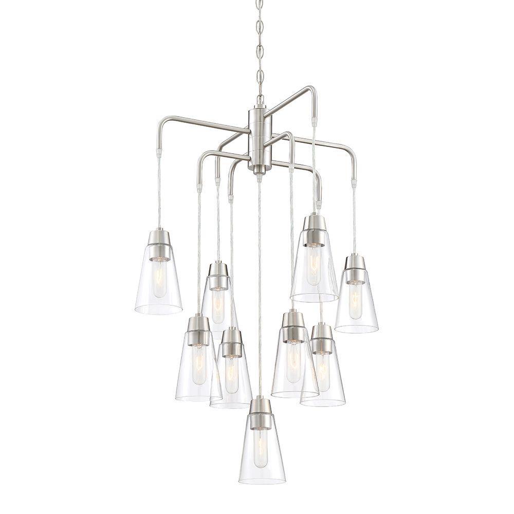 Designers Fountain Echo 9-Light Satin Platinum Chandelier