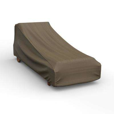 NeverWet Hillside Large Black and Tan Single Patio Chaise Cover
