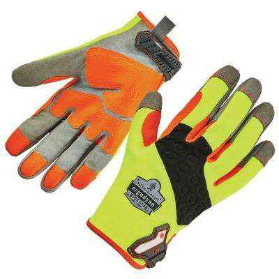 ProFlex Large Lime Green Heavy-Duty Utility Work Gloves