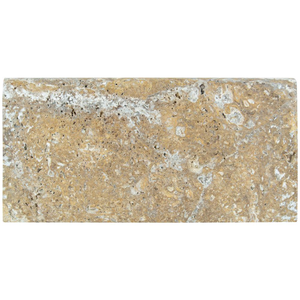 MSI Tuscany Scabas 12 in. x 24 in. Brushed Travertine Pool Coping (15 Piece / 30 Sq. ft. / Pallet)