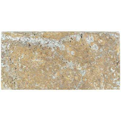 Tuscany Scabas 12 in. x 24 in. Brushed Travertine Pool Coping (15 Piece / 30 Sq. ft. / Pallet)