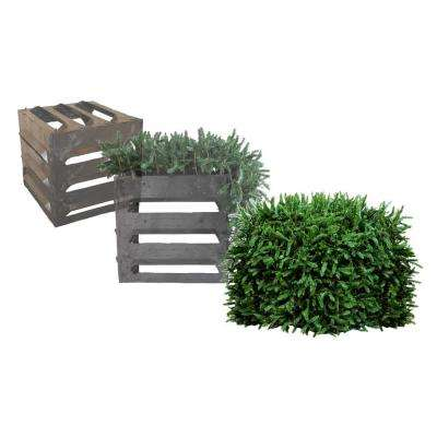 3 Sided with Top Faux Evergreen Utility Equipment Cover