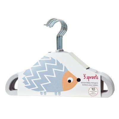 Gray Hedgehog Hangers (pack of 10)