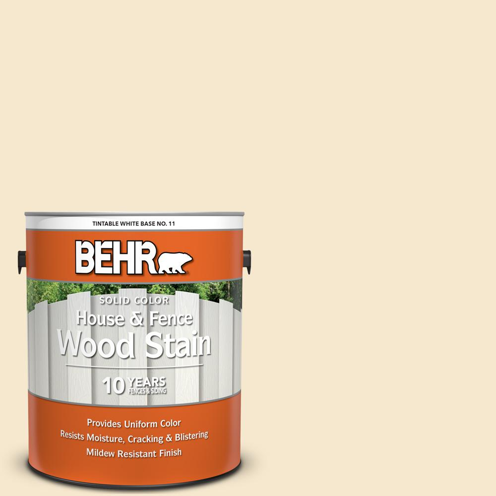 BEHR 1 Gal. White Base Solid Color House and Fence Exterior Wood Stain