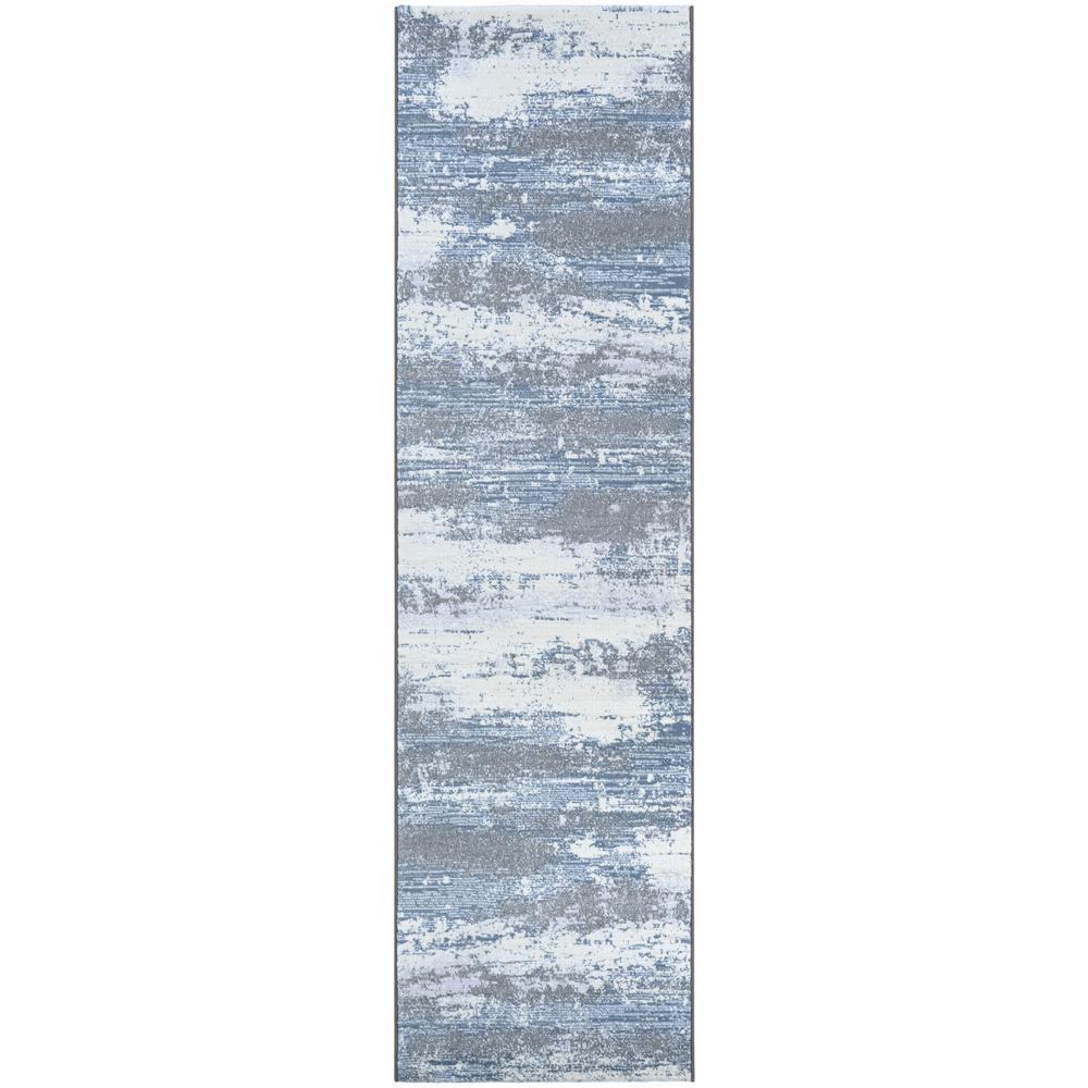 Serenity Virga Opal-Grey-Mushroom 2 ft. x 8 ft. Runner Rug