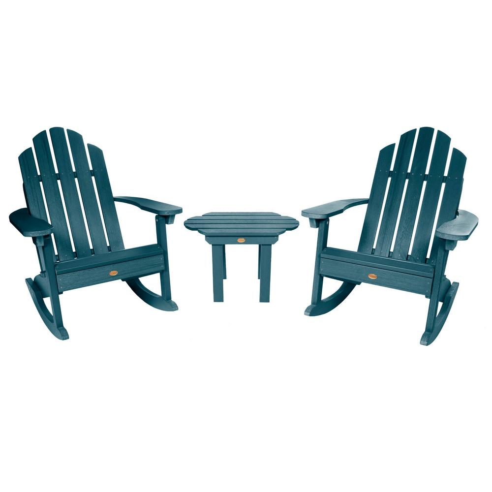 Marvelous Highwood Classic Wesport Nantucket Blue 3 Piece Recycled Plastic Patio Conversation Set Gmtry Best Dining Table And Chair Ideas Images Gmtryco