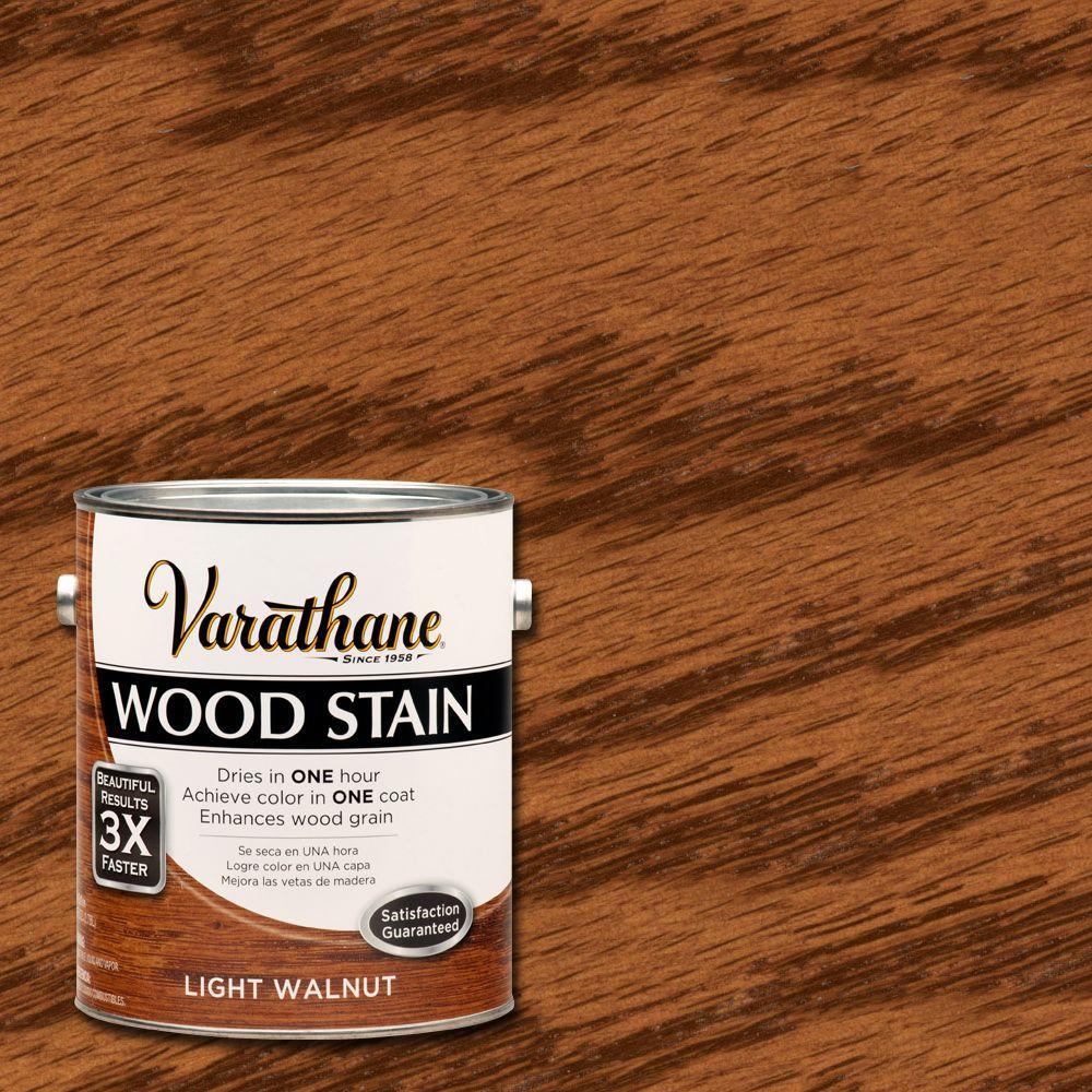 1 gal. Light Walnut Premium Fast Dry Interior Wood Stain (2-Pack)