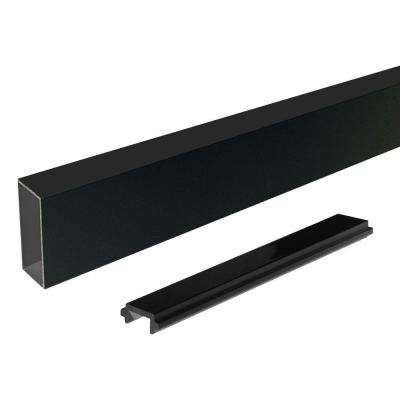 6 ft. Black Aluminum Wide Picket and Spacer
