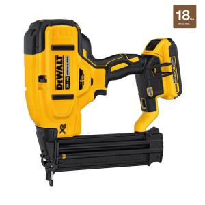 Click here to buy Dewalt 20-Volt Max Lithium-Ion 18-Gauge Cordless Brad Nailer Kit by DEWALT.
