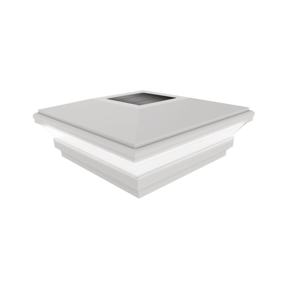 Veranda 4 in. x 4 in. White Solar Post Cap