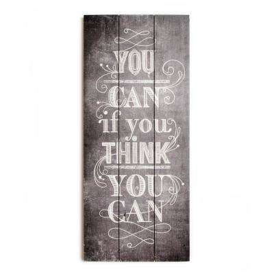 """28 in. x 12 in. """"You Can"""" Wooden Wall Art"""