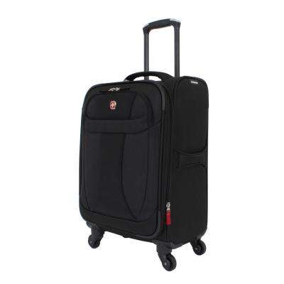 20 in. Lightweight Spinner Suitcase in Black