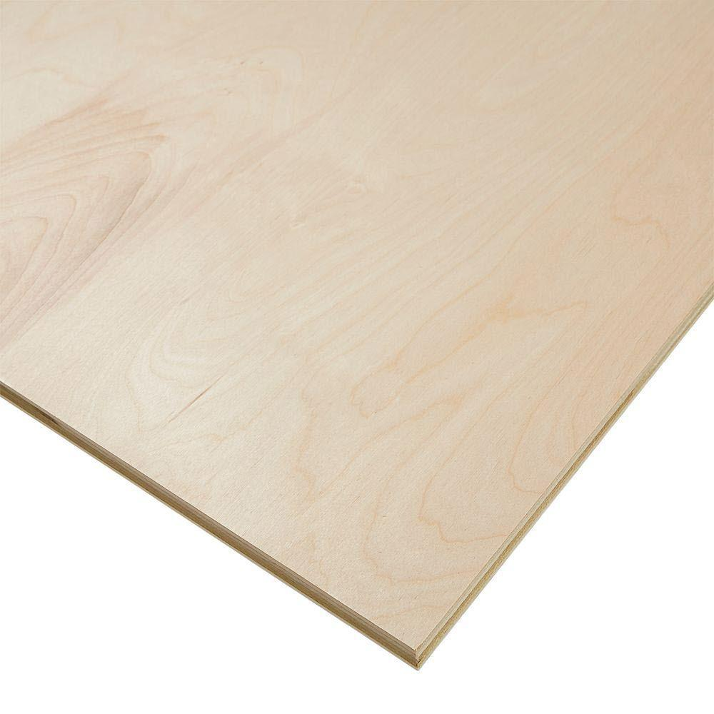 1 8 In X 4 Ft X 8 Ft R C C 2 Birch Hardwood Plywood 1400140 The Home Depot