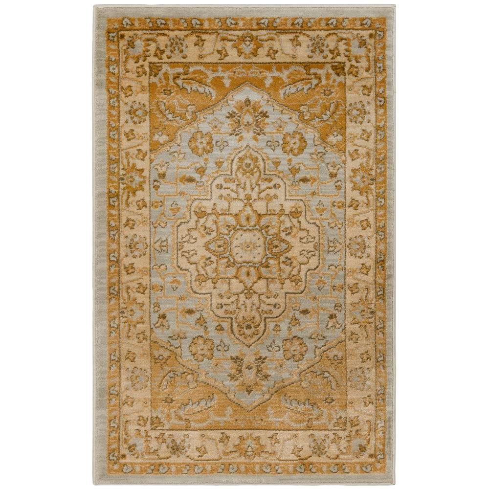 Large Area Rugs Gold: Safavieh Austin Light Grey/Gold 2 Ft. 6 In. X 4 Ft. Area