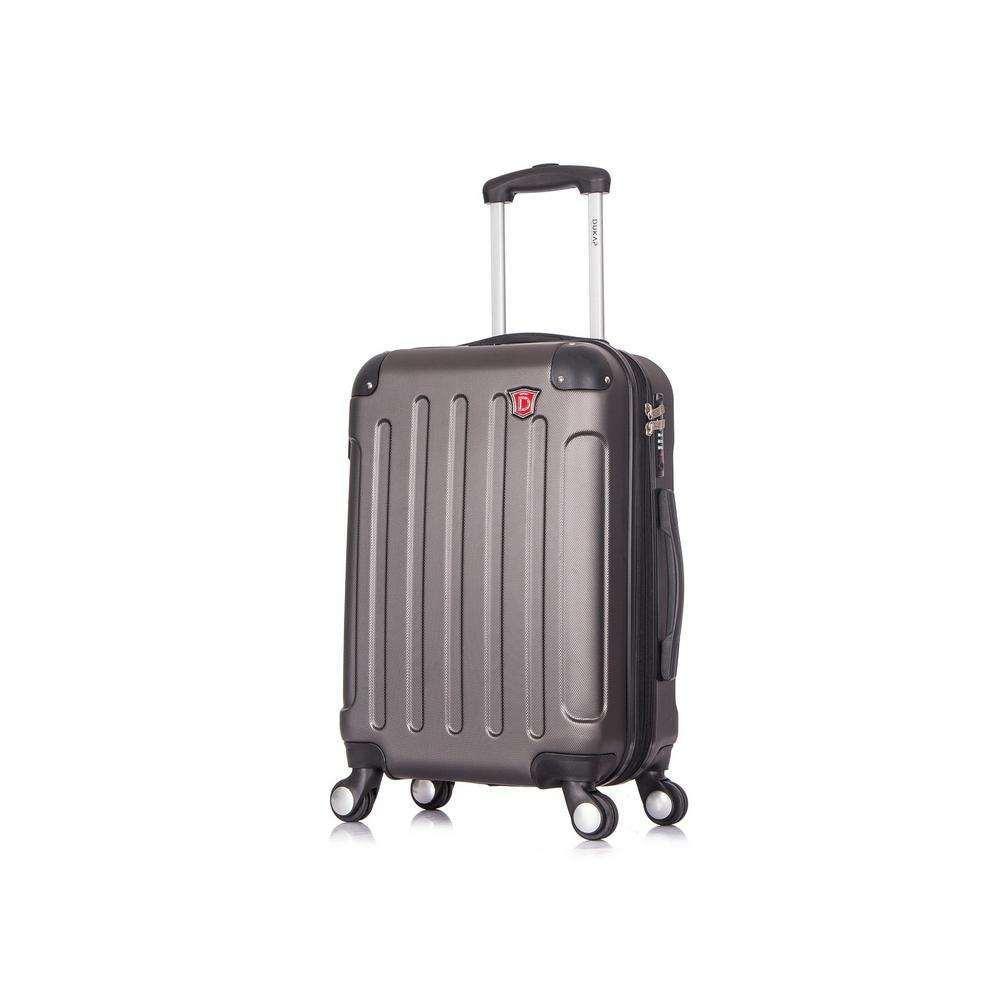 Intely 20 in. Grey Hardside Spinner Carry-on with USB Port