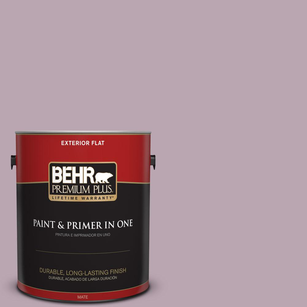 BEHR Premium Plus 1-gal. #690F-4 Midsummer Dream Flat Exterior Paint