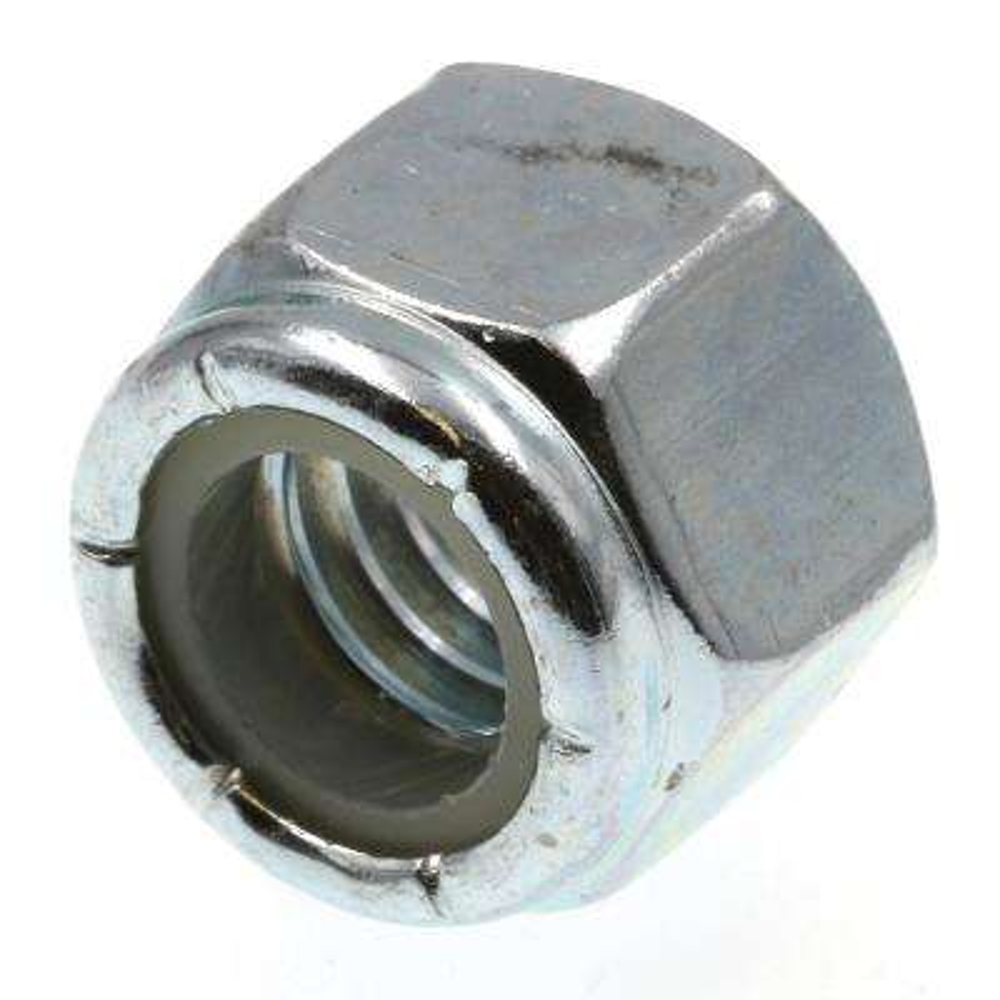 #10-24 Grade 2 Zinc Plated Finish Steel Nylon Insert Jam Lock Nut 100 pk.
