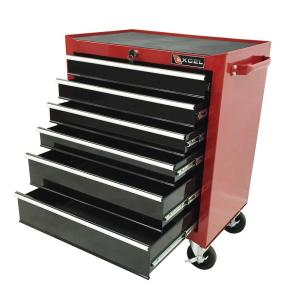 Click here to buy Excel 26 inch 6 Drawer Roller Cabinet Tool Chest Red by Excel.