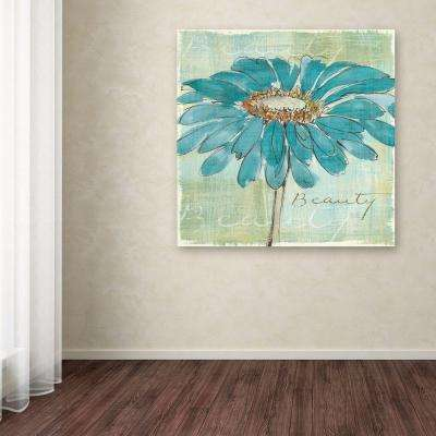 """35 in. x 35 in. """"Spa Daisies I"""" by Chris Paschke Printed Canvas Wall Art"""
