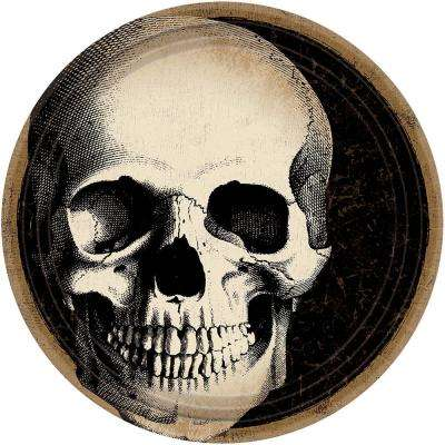 7 in. x 7 in. Halloween Skull Plate (60-Count )