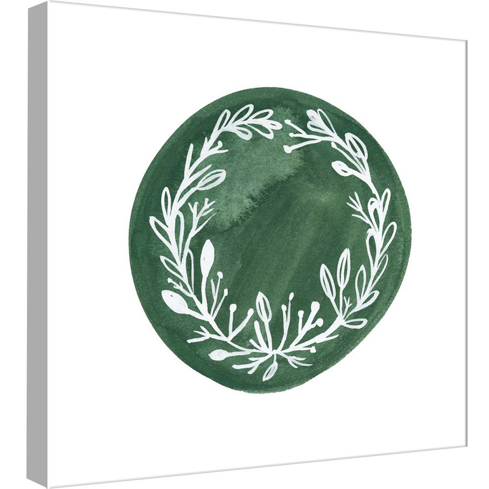 15 in. x 15 in. ''Wreath 3'' Printed Canvas Wall Art