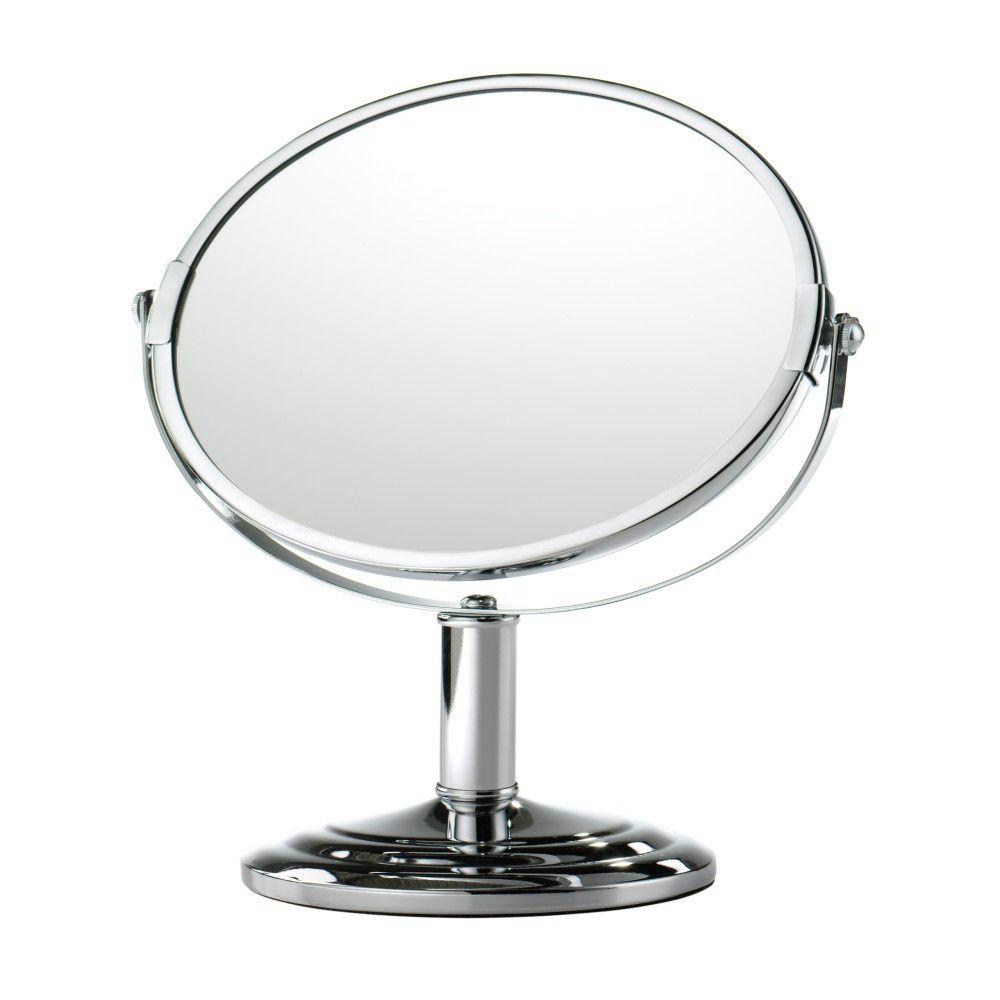 Home Decorators Collection 4.75 in. x 10.75 in. Chrome Magnifying Framed Makeup Mirror (5X)