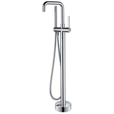 Moray Series 2-Handle Freestanding Tub Faucet with Hand Shower in Polished Chrome
