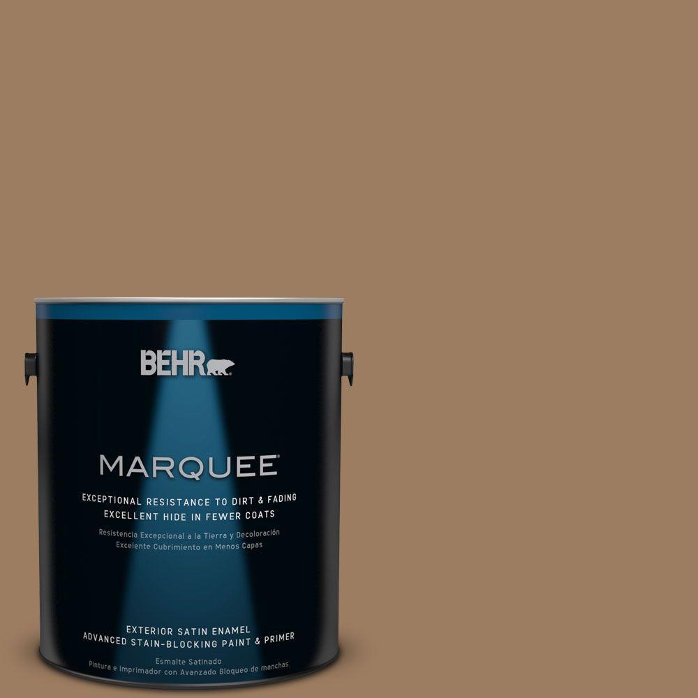 BEHR MARQUEE 1-gal. #BXC-08 Safari Brown Satin Enamel Exterior Paint