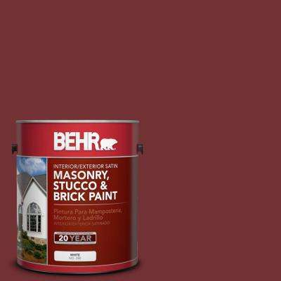 1 gal. #BXC-18 Poisonberry Satin Interior/Exterior Masonry, Stucco and Brick Paint