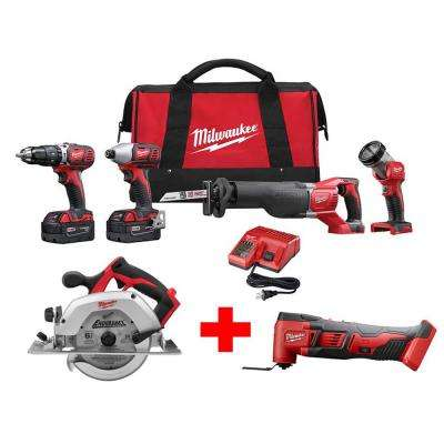 M18 18-Volt Lithium-Ion Cordless Combo Tool Kit (4-Tool) with Free M18 6-1/2 in. Circular Saw & Oscillating Multi-Tool