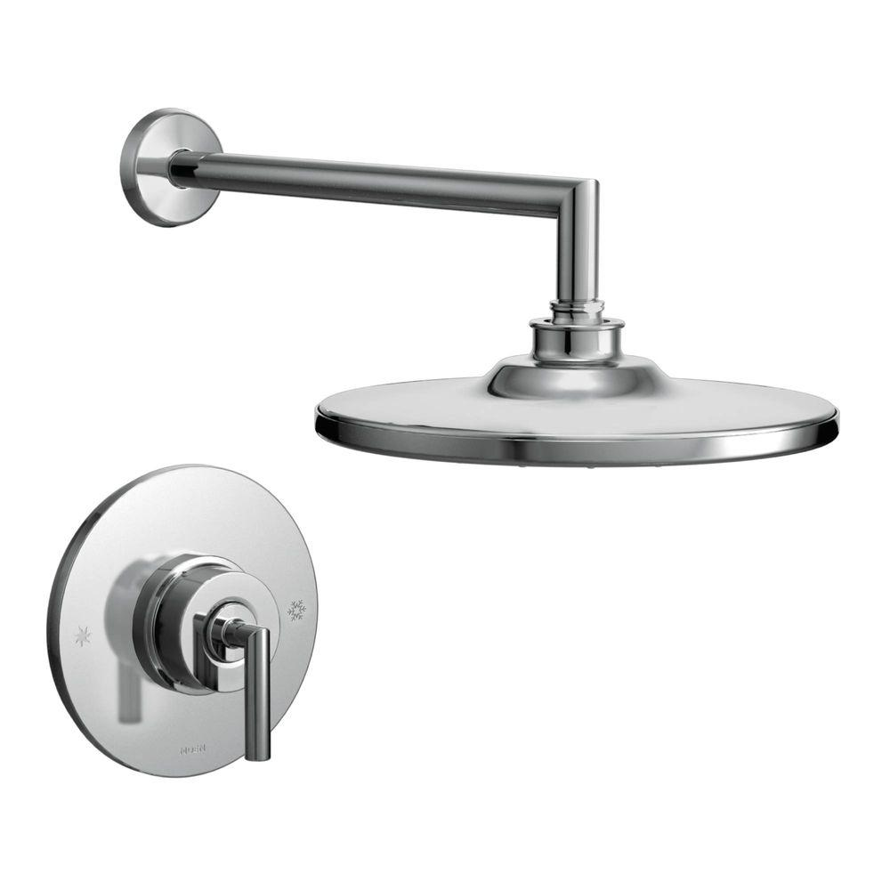 MOEN Arris Single Handle 1-Spray Posi-Temp Shower Faucet Trim Kit in Chrome (Valve Not Included)