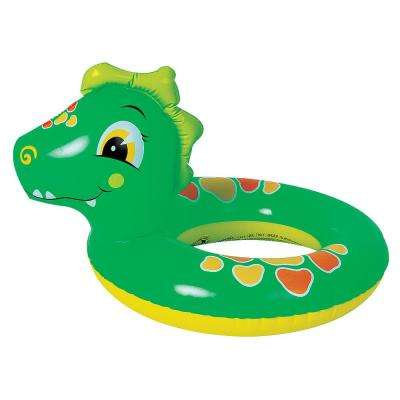 Adventurous Dinosaur Inflatable Pool Tube - Blow Up Novelty Swim Ring for Kids